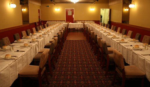 The Red Lion Function Room Dinner Layout