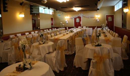 The Red Lion Function Room Wedding Layout